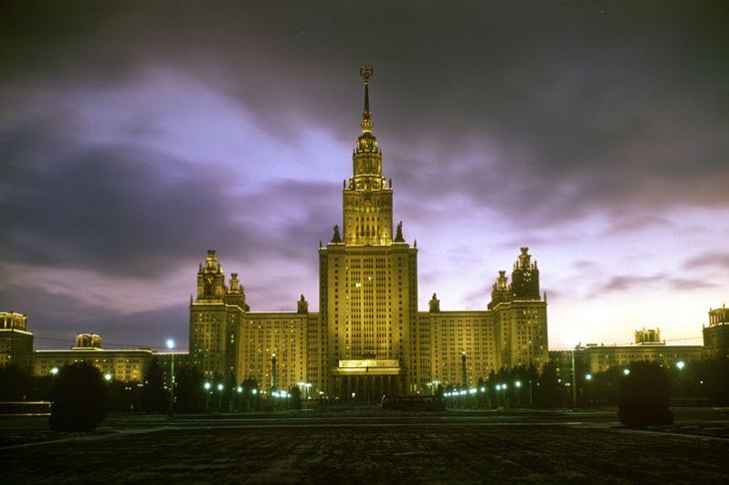 Главное здание МГУ. 1981 год.