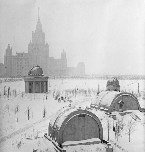 Обсерватория МГУ. 1958 год.