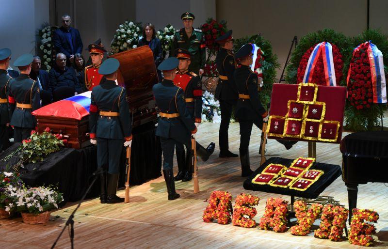 Церемония прощания с народным артистом СССР, певцом, депутатом Государственной Думы РФ Иосифом Кобзоном.