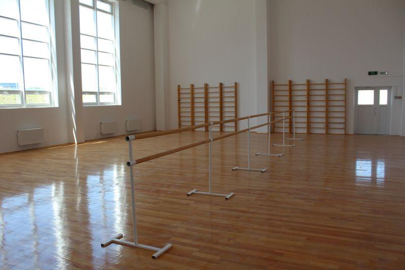 Так выглядит мобильный спортзал для занятий акробатикой, борьбой и т.п.