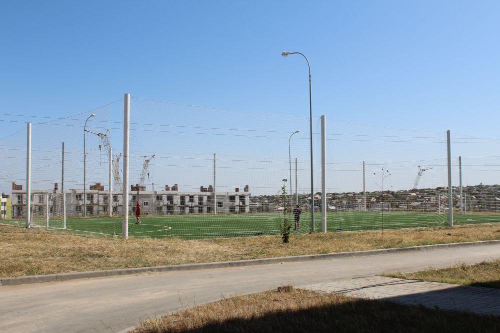 Футбольное поле.