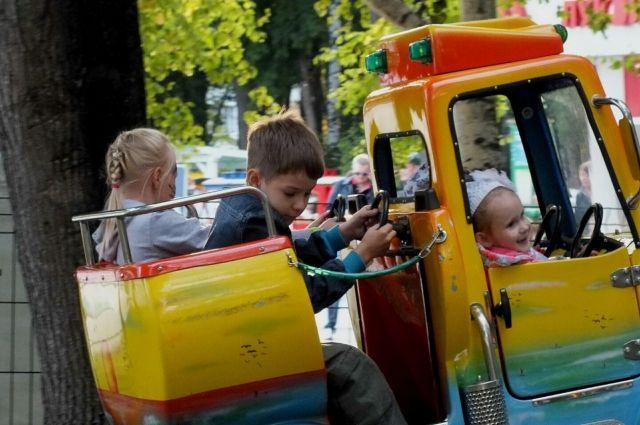 Многие из ребят впервые оказались в парке развлечений.