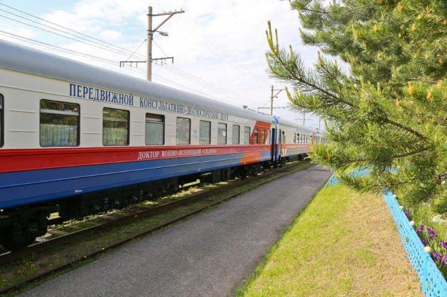 Поезд будет делать остановки на семи станциях.