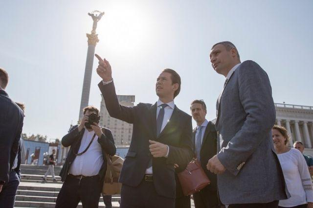 Кличко встретился с Федеральным канцлером Австрии