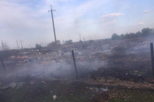 Под Киевом массово горят мусорные свалки и трава