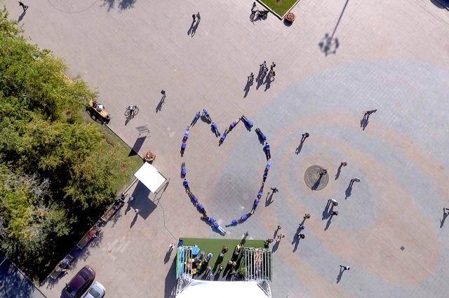 Тюменские экстремалы выразили свою любовь к региону