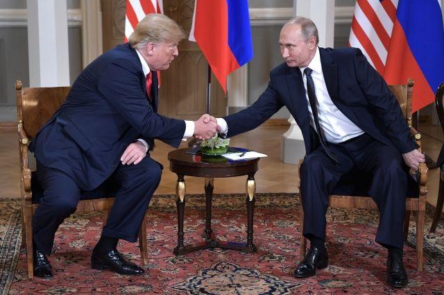 Трамп считает встречу сПутиным одной из наилучших всвоей жизни