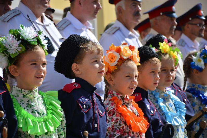 Юные казаки на Дне города