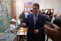 Сергей Дугин на избирательном участке