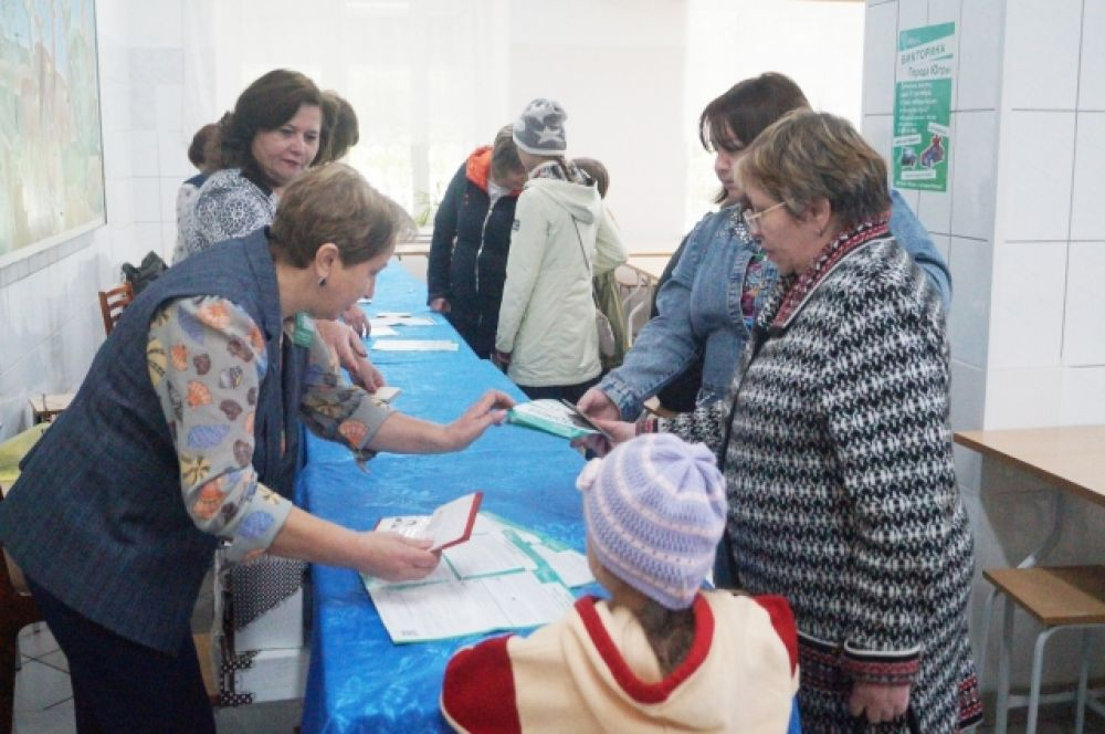 """Помимо этого на избирательных участках организованы пункты приема анкет Викторины """"Города Югры"""""""