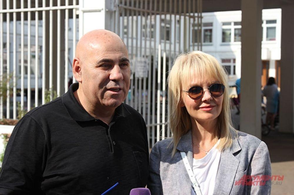 Продюсер Иосиф Пригожин и певица Валерия.