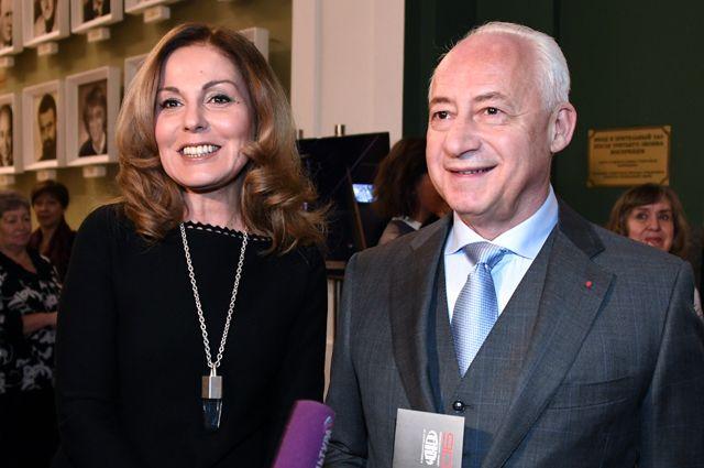 Владимир Спиваков с супругой.