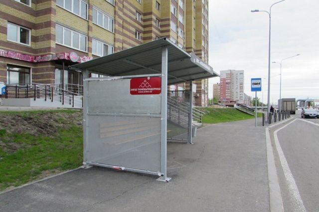 В Тюмени на ул. Беловежской появилась новая автобусная остановка