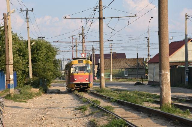 Ремонт трамвайных путей на проспекте Дзержинского