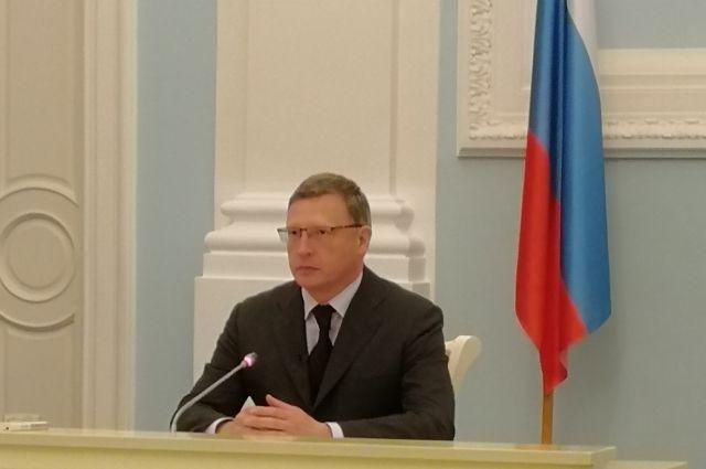 После инаугурации омский губернатор Бурков уйдёт в отпуск