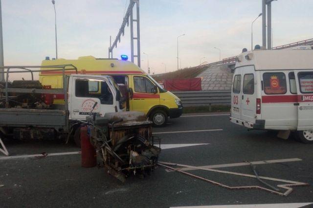 Столкновение произошло около 18.00 неподалёку от Кукуштана.