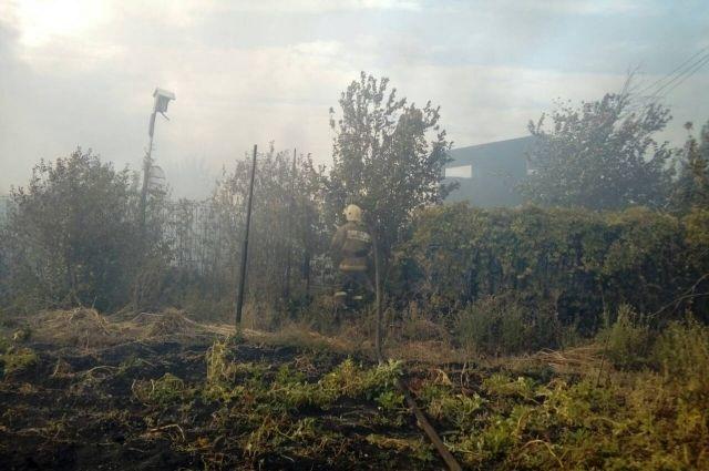 Тушение пожара в Кушкулях.