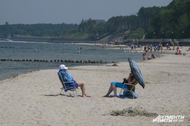 Пляж в Пионерском планируют увеличить на 10-20 метров.