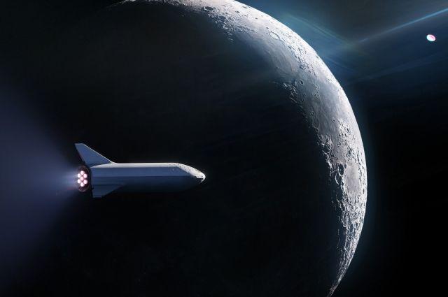 SpaceX планирует запустить на Луну новый ракетоноситель с гражданским лицом