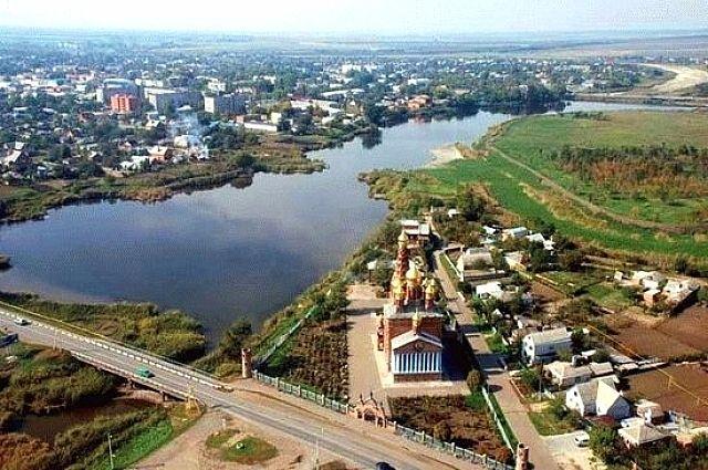 Каневской район с высоты птичьего полёта.