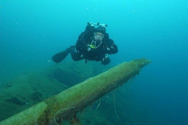 Тюменцы обнаружили в Черном море затонувший старинный корабль