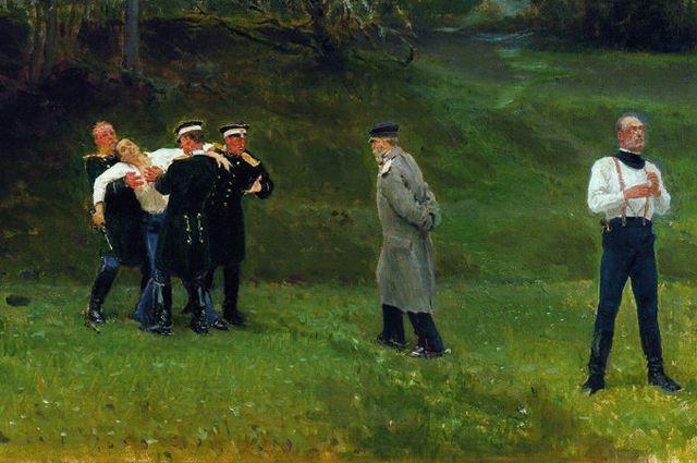 «Дуэль». И. Е. Репин. 1896 год.
