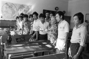 Вьетнамские студенты на экскурсии. 1988 г.