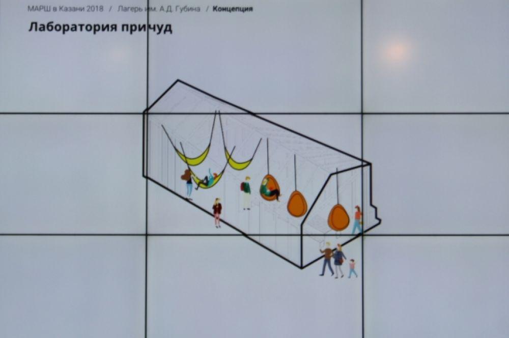 Архитекторы предложили добавить лагерю новых функций (спортзал, скайпарк) и создать современный ландшафт.