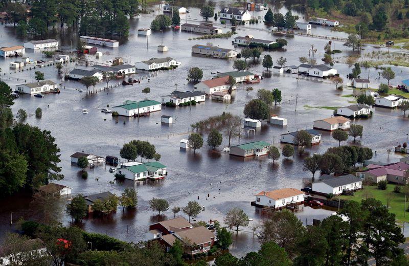 Окраина города Ламбертон, Северная Каролина.
