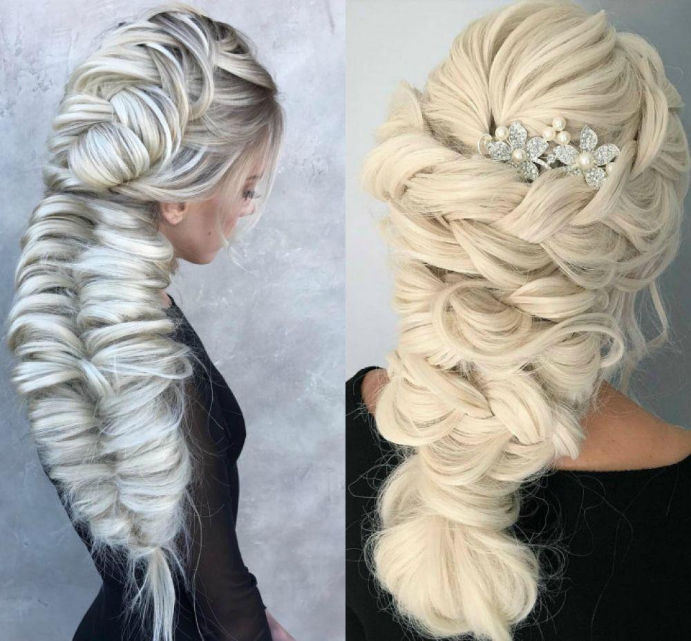 Объемные косы-узлы с украшениями хороши на мероприятиях, но на улице с ними делать нечего. Да и на мероприятиях их не носят больше.
