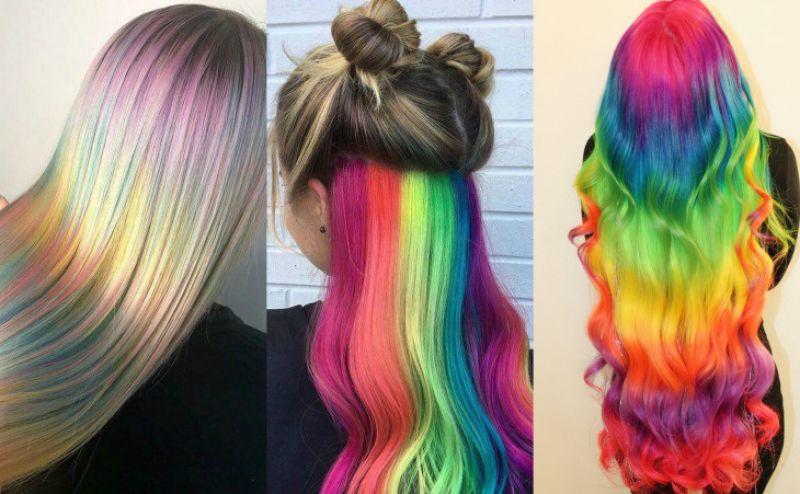Из причесок, хоть этой осенью и модны неоновые оттенки, уходит тренд радужного окраса волос.
