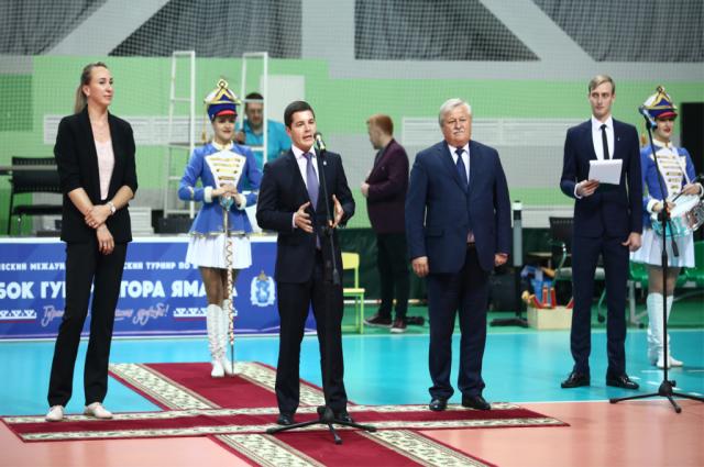 Дмитрий Артюхов открыл международный детский турнир по волейболу