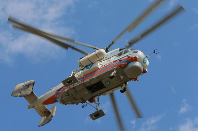 Причиной вылета вертолёта МЧС стал несчастный случай.