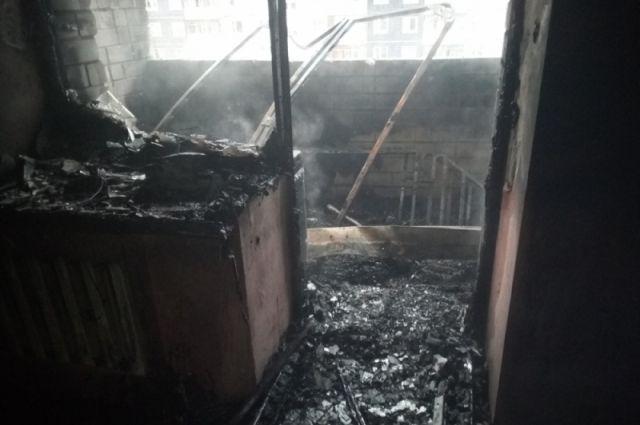 Квартира выгорела из-за короткого замыкания.