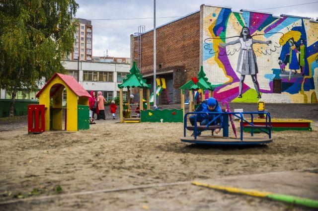 Двор обновили в Дзержинском районе.