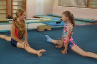 В школу спортивной гимнастики принимают с четырёх лет.