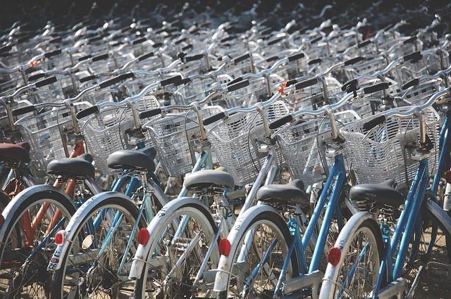 Велосипеды пропали с велостоянки на Стрелке.