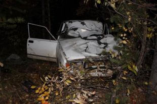 Водитель «ВАЗа» скончался на месте.