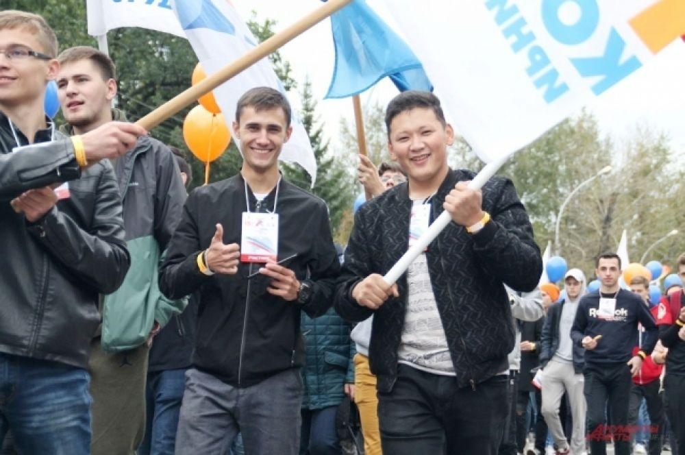 Участие приняли тысячи студентов иркутских вузов.