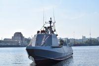«Кентавры» на Днепре: в Киеве спустили на воду еще один десантный катер