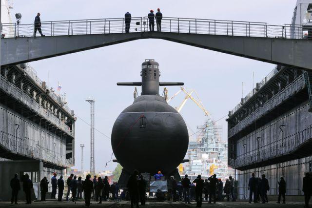 Спуск на воду подводной лодки «Кронштадт»