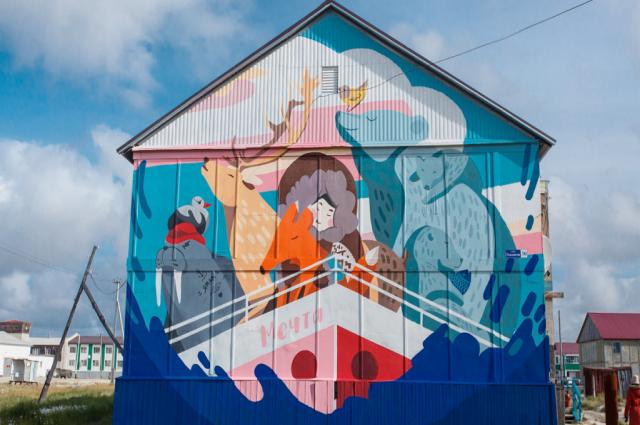 В Ямальском районе «Стенограффия» добавила ярких красок селам