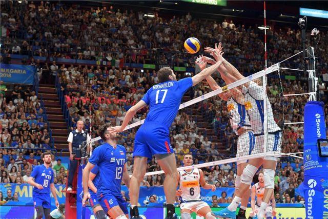 Российские волейболисты обыграли итальянцев в матче группового этапа ЧМ