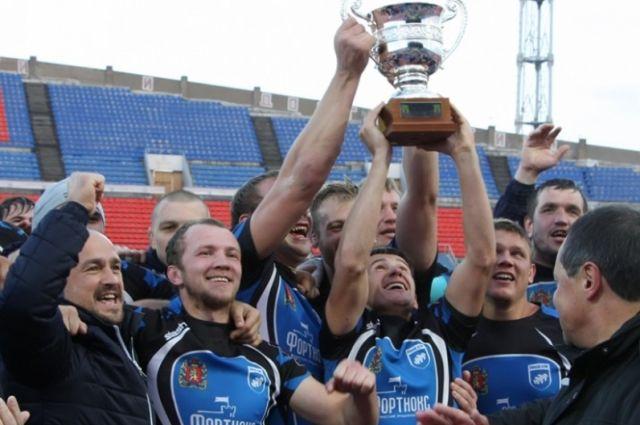 В прошлом году «Енисей-СТМ» выиграл первый финал чемпионата России по регби.