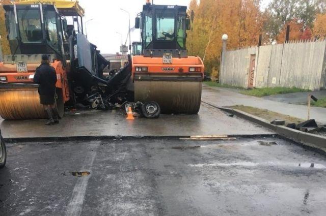 В Лабытнанги скончался пассажир легковушки, которая врезалась в каток