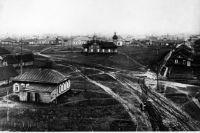 Так выглядела центральная часть города Кемерово в 1935 году.