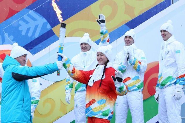 24 сентября огонь прибыл в Казахстан.