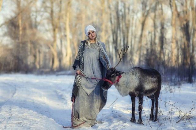Олениха Снежна вновь отличилась.