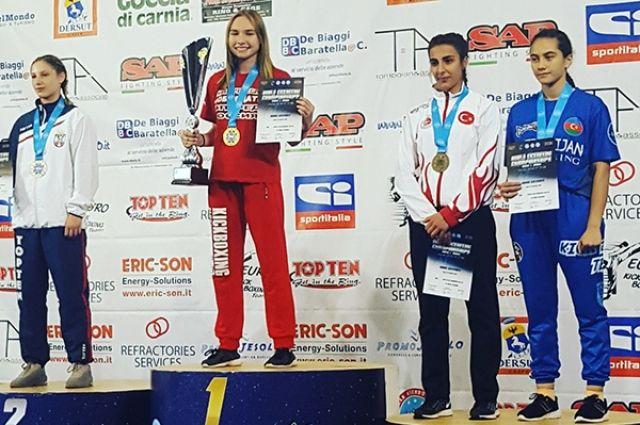 Калининградская спортсменка выиграла первенство мира по кикбоксингу.