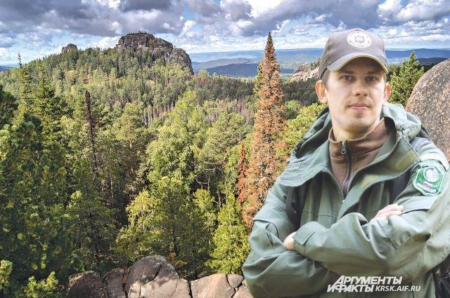 Сергей с шести лет привык к жизни в лесу среди диких животных.